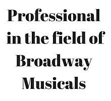 Broadway Musicals Photographic Print