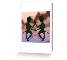 Sunset Grinch Cartoon Greeting Card