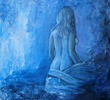 Woman in blue by olivia-art