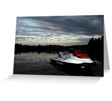 Jet-ski on the Lake Greeting Card