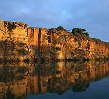 murray river cliffs untouched pic  by another-paul