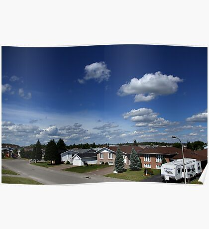 Clouds Over Suburbia Poster
