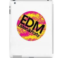 EDM (Electronic Dance Music) Listen & Party. iPad Case/Skin