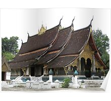 Buddhist temple - Wat Xieng Thong  Poster