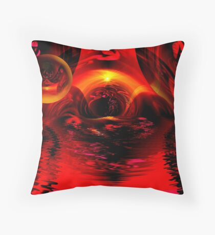 New Red Sea Throw Pillow