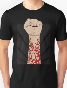 Fight the power, fist with tattoo T-Shirt