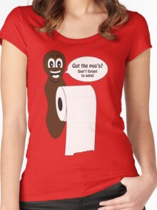 Mr Hanky style poo shirt Women's Fitted Scoop T-Shirt