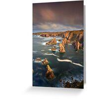 Mangersta Sea Stacks Greeting Card