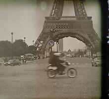 Moped to the Eiffel Tower by Liliana Morawska