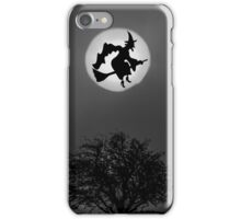 Cackling Witch In Moon iPhone Case/Skin