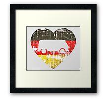 I Heart VW Campers Framed Print