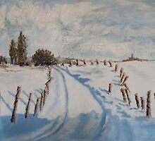 Snow Path by Lesley Rowe
