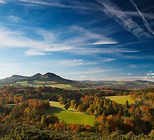 Brushed Eildon Hills  - Scottish Borders by SnippsWhispers
