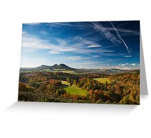 Brushed Eildon Hills  - Scottish Borders Greeting Card