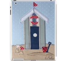 Stripy Beach Hut with sand castles iPad Case/Skin