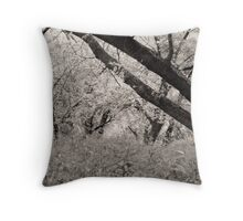 The dance of the forest on Grass Island Throw Pillow