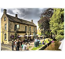 The Cotswolds pub Garden in United Kingdom Poster