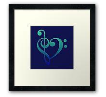 Love Music (Cool Colors) Framed Print