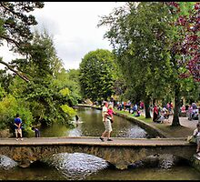 A HDR panoramic image of Bourton-on-the-water by Mark Johnson