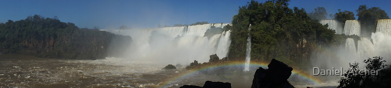 Iguassu Falls Panorama by Daniel  Archer
