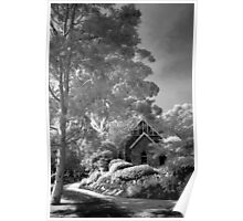 Old church in mono Poster
