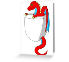 Baby Dragon in My Pocket Greeting Card
