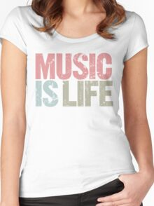 Music is Life (Special Edition) Women's Fitted Scoop T-Shirt