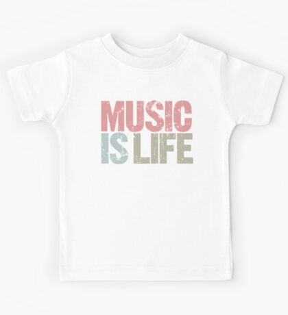 Music is Life (Special Edition) Kids Tee