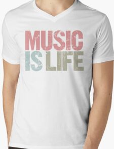 Music is Life (Special Edition) Mens V-Neck T-Shirt