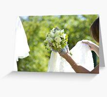 Big Day Wedding Bouquet Greeting Card