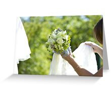 Big Day Wedding Bouquet Greeting Card