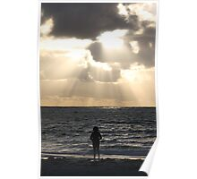 Sunset over Beach - Cervantes WA Poster