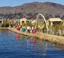 Colourful Titicaca Locals by Daniel  Archer