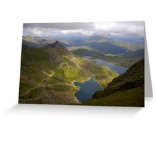 Snowdon Mountain, Wales uk. Greeting Card