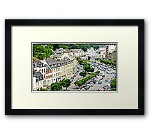 """"""" Looking down from the road deck of the viaduct"""" Framed Print"""