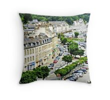""""""" Looking down from the road deck of the viaduct"""" Throw Pillow"""