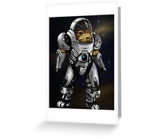 Grunt Mass Effect Greeting Card