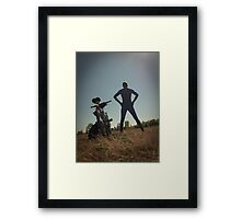Blue Solitary 11 Framed Print