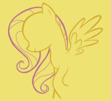 Fluttershy Outline T-Shirt