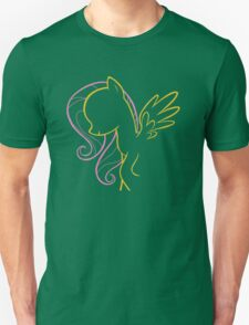Fluttershy Outline Unisex T-Shirt