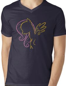 Fluttershy Outline Mens V-Neck T-Shirt