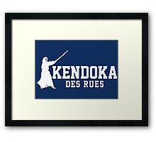 Kendoka des rue Framed Print