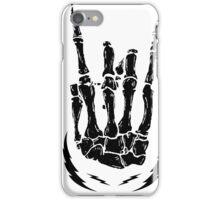 Bone hand skeleton rock sign iPhone Case/Skin