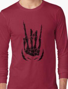 Bone hand skeleton rock sign Long Sleeve T-Shirt