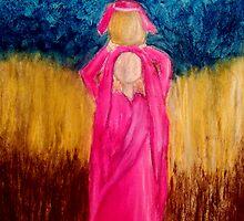 Young Girl Giving Prayer by Angela Pari Dominic Chumroo