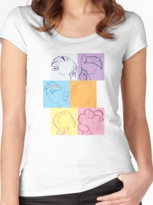 6 Main_squares 2 Women's Fitted Scoop T-Shirt