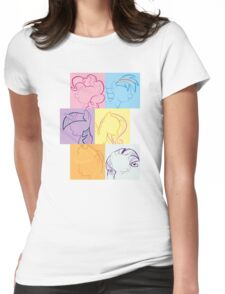 6 Main_squares 3 Womens Fitted T-Shirt