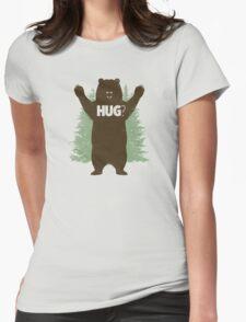 Bear Hug (Light) Womens Fitted T-Shirt