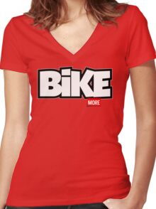Bike More Women's Fitted V-Neck T-Shirt