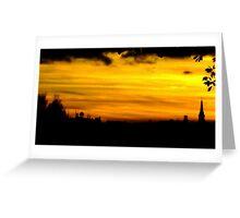 twilight in a golden haze Greeting Card